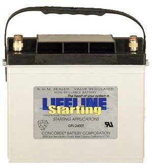 gpl 2400t 12 volt 870 cold cranking amps starting battery agm. Black Bedroom Furniture Sets. Home Design Ideas