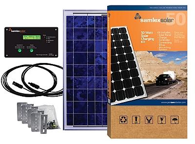 On The Go Portable 50 Watt Solar Charging Kit For 12 Volt