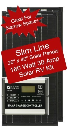 Zamp Slim Line Airstream 160 Watt 30 Amp Solar RV Kit ZS-160-30A