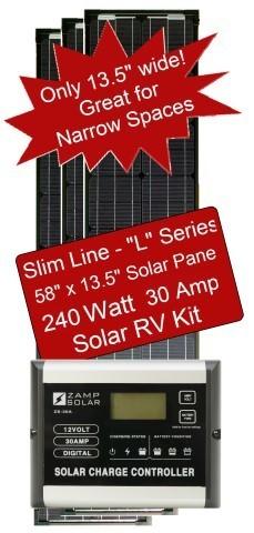 Zamp Slim Line Airstream 240 Watt 30 Amp Solar Rv Kit Zs