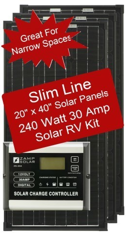 Zamp Slim Line Airstream 240 Watt 30 Amp Solar RV Kit ZS-240-30A