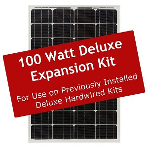 Deluxe 100 Watt Solar Expansion Kit – ZS-EX-100-DX