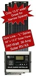 Zamp Slim Line Airstream 240 Watt 30 Amp Solar RV Kit ZS-240-30A-L