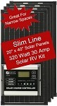 Zamp Slim Line Airstream 320 Watt 30 Amp Solar RV Kit ZS-320-30A
