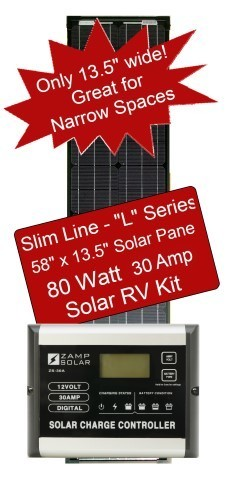 Zamp Slim Line Airstream 80 Watt 30 Amp Solar RV Kit ZS-80-30A-L